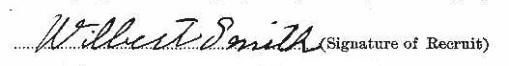 Wilbert Smith signature