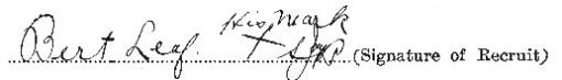 Bert Leaf signature