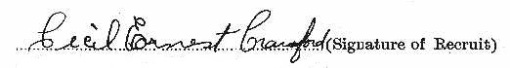 Cecil Ernest Carawford signature