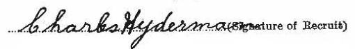 Charles Hyderman signature