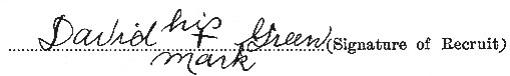 David Green signature