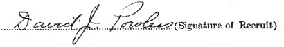 David John Powless signature