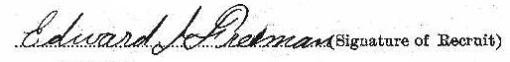 Edward Jerome Freeman signature