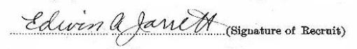 Edwin Arthur Jarrett signature