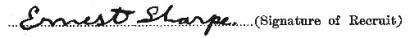 Ernest Sharpe signature