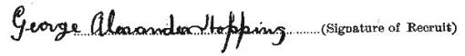 George Alexander Hopping signature