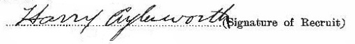 Harry Aylesworth signature