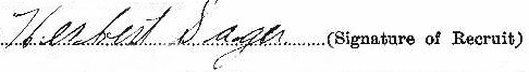 Herbert Sager signature