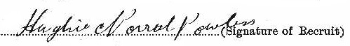 Hugh Norval Powless signature