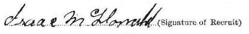 Isaac McDonald (Barnhardt) signature