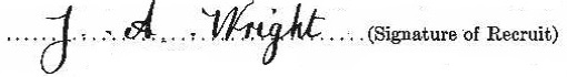 James Adamson Wright signature