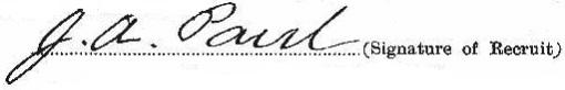 James Albert Paul signature