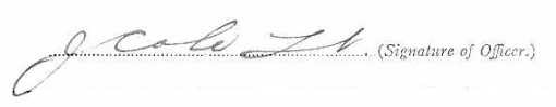 James Cole signature
