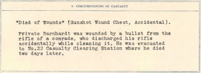 James Nelson Barnhardt casualty report extract