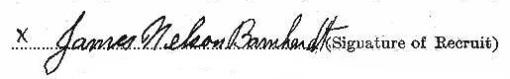 James Nelson Barnhardt signature