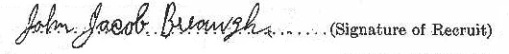 John Jacob Breaugh signature