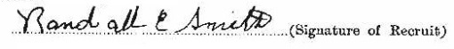 Randall Edward Smith signature