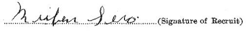 Reuben Sero signature