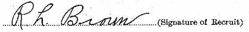 Robert Leonard Brown signature