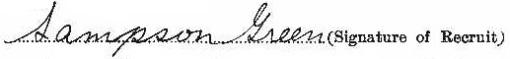 Sampson Green signature
