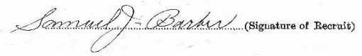Samuel James Barber signature