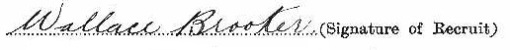 Wallace Brooker signature