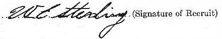 William Edmund Sterling signature