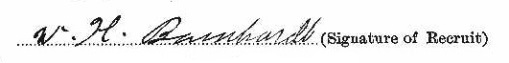 William Henry Barnhardt signature
