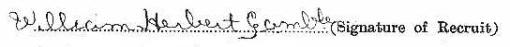 William Herbert Gamble signature