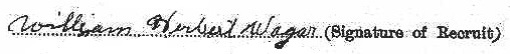 William Herbert Wager signature