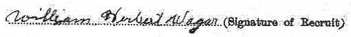 William Herbert Wager signature