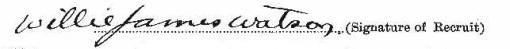 William James Watson signature