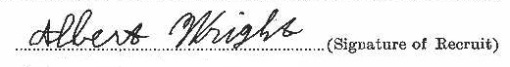 Albert Wright signature