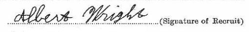 Albert Wright signature