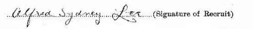 Alfred Sydney Lee signature