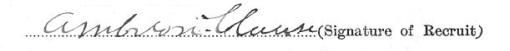 Ambrose Clause signature