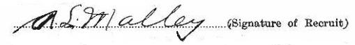 Arthur Lionel Malley signature