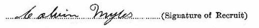 Calvin Leslie Myles signature