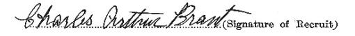 Charles Arthur Brant signature