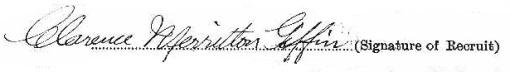 Clarence Merritton Giffin signature