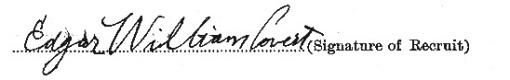 Edgar William Covert signature