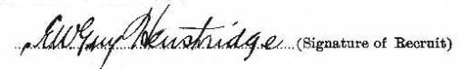 Edward William Guy Henstridge signature