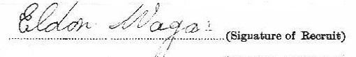 Eldon Roy Wagar signature