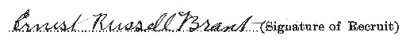 Ernest Russell Brant signature