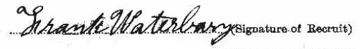 Frank Waterbury signature