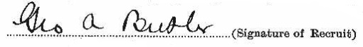 George Albert Butler signature