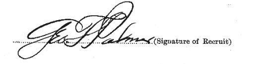 George Fayette Palmer signature
