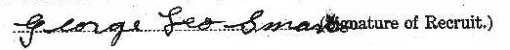 George Leo Smart signature