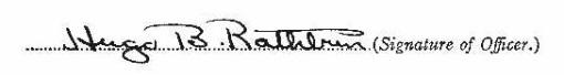 Hugo Burghart Rathbun signature