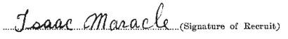 Isaac Maracle signature